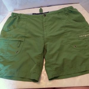 LIFE IS GOOD Lady's Green Athletic Shorts Size M